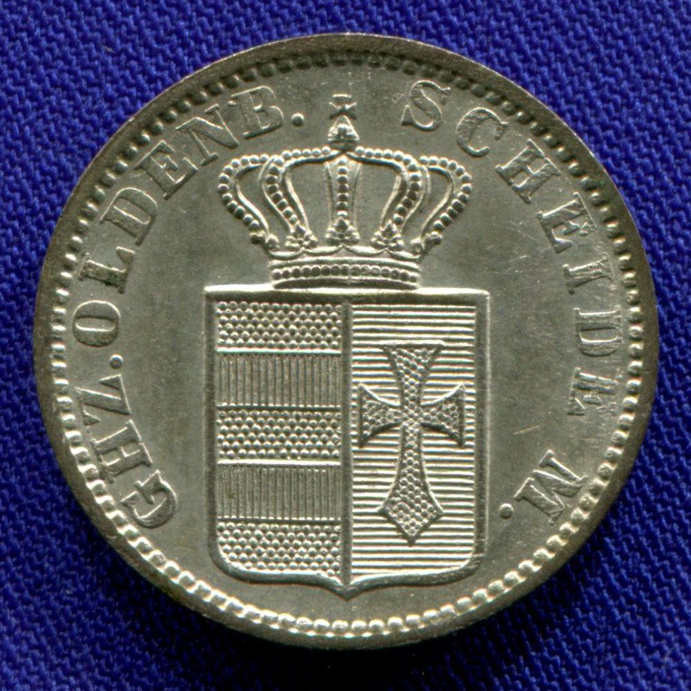 Германия/Ольденбург 1 грош 1858 aUNC  - 1
