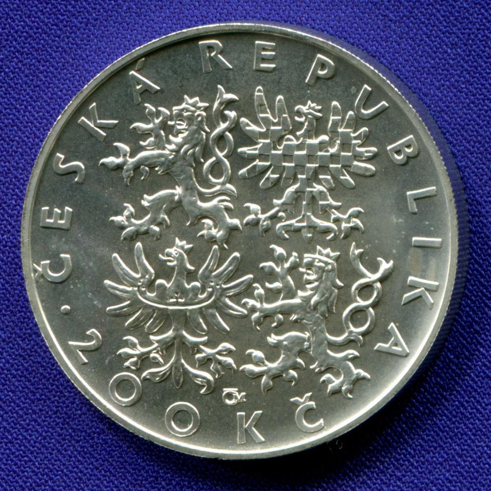 Чехия 200 крон 1997 aUNC 1000 лет со дня смерти Адальберта Пражского  - 1