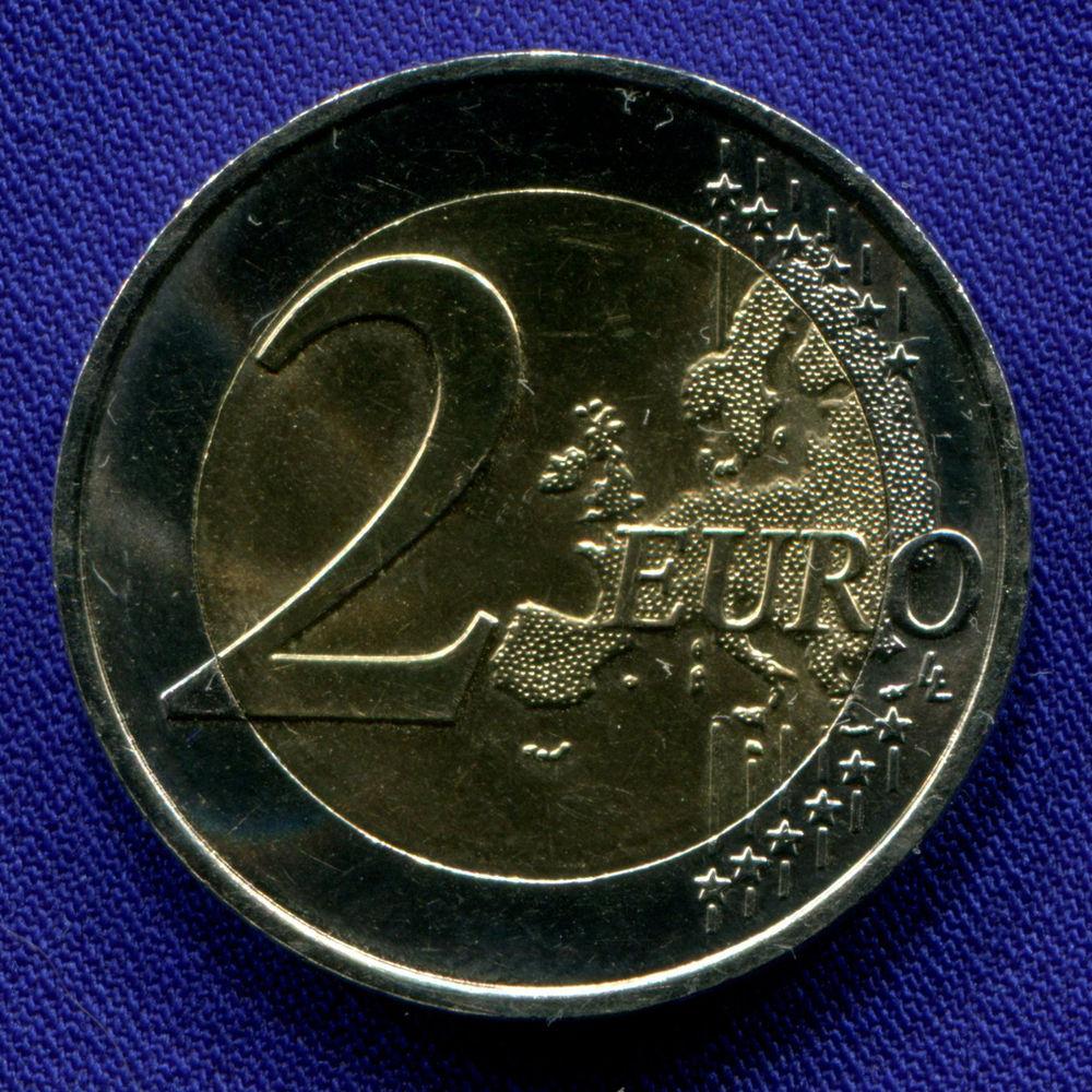 Франция 2 евро 2014 aUNC Всемирный день борьбы со СПИДом  - 1