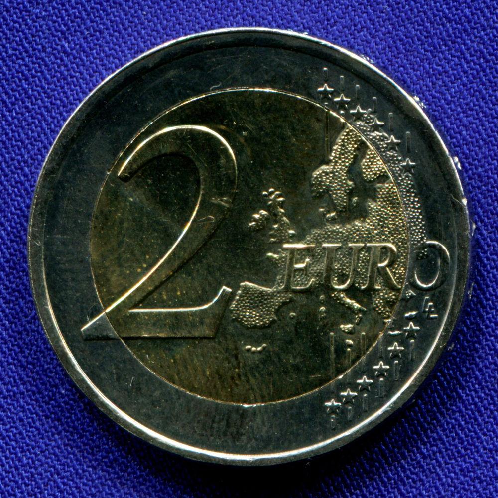 Греция 2 евро 2018 UNC 70 лет cоюзу Додеканеса с Грецией  - 1
