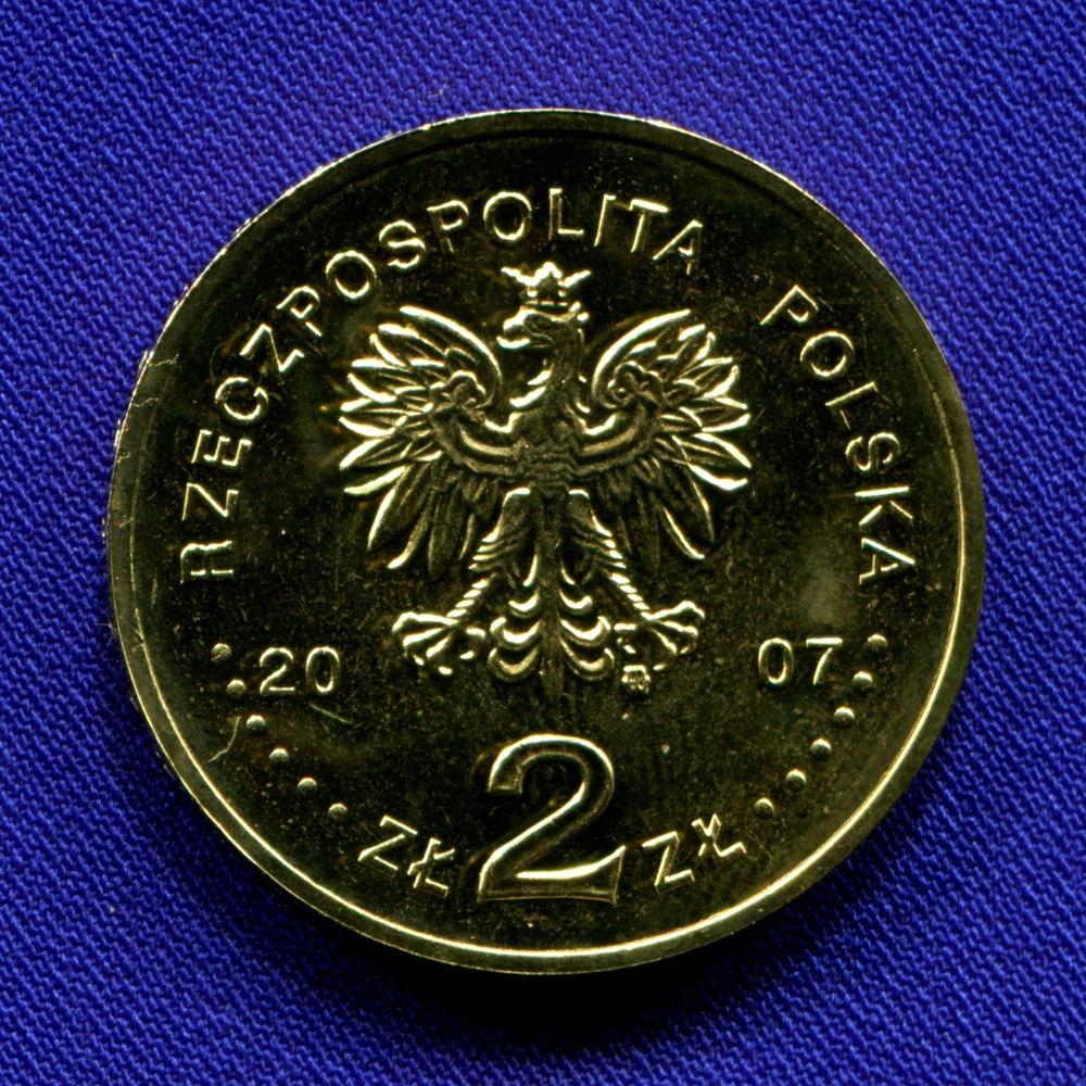 Польша 2 злотых 2007 UNC Рыцарь XV в.  - 1