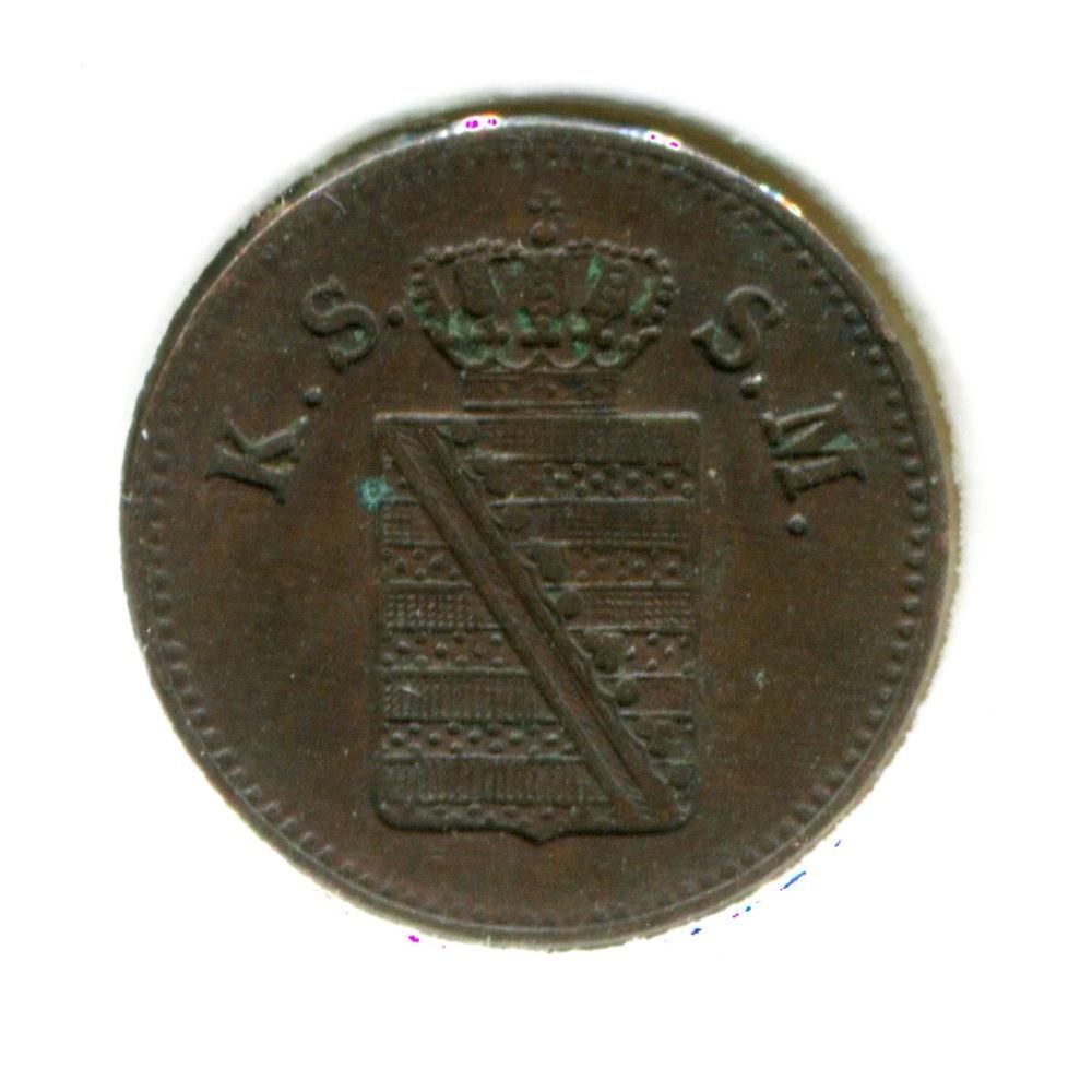 Германия/Саксония 1 пфенниг 1854 XF  - 1