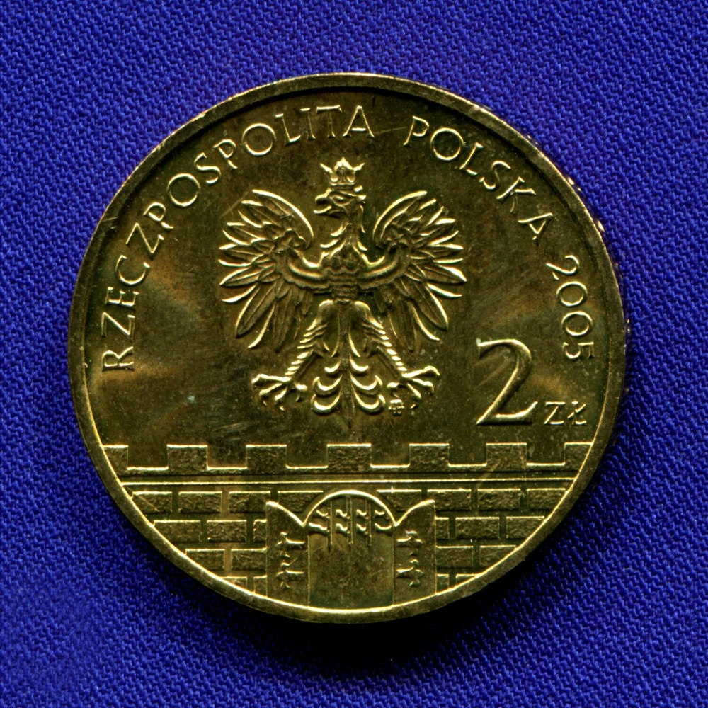 Польша 2 злотых 2005 UNC Гнезно  - 1