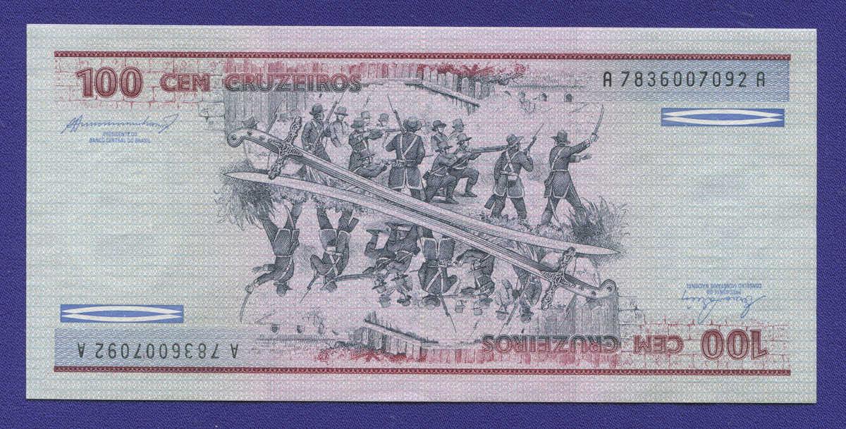 Бразилия 100 крузейро 1984 UNC - 1