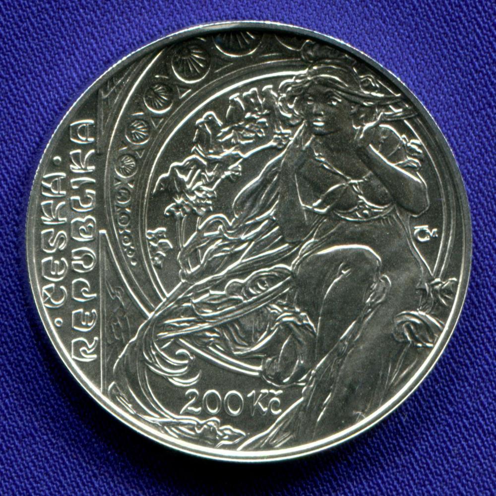 Чехия 200 крон 2010 UNC Альфонс Муха  - 1