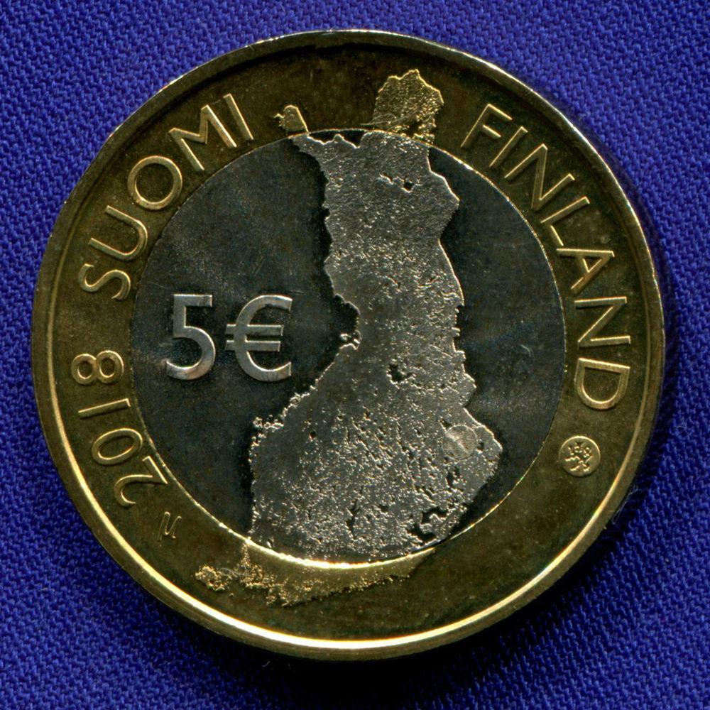 Финляндия 5 евро 2018 UNC Национальный парк Коли  - 1