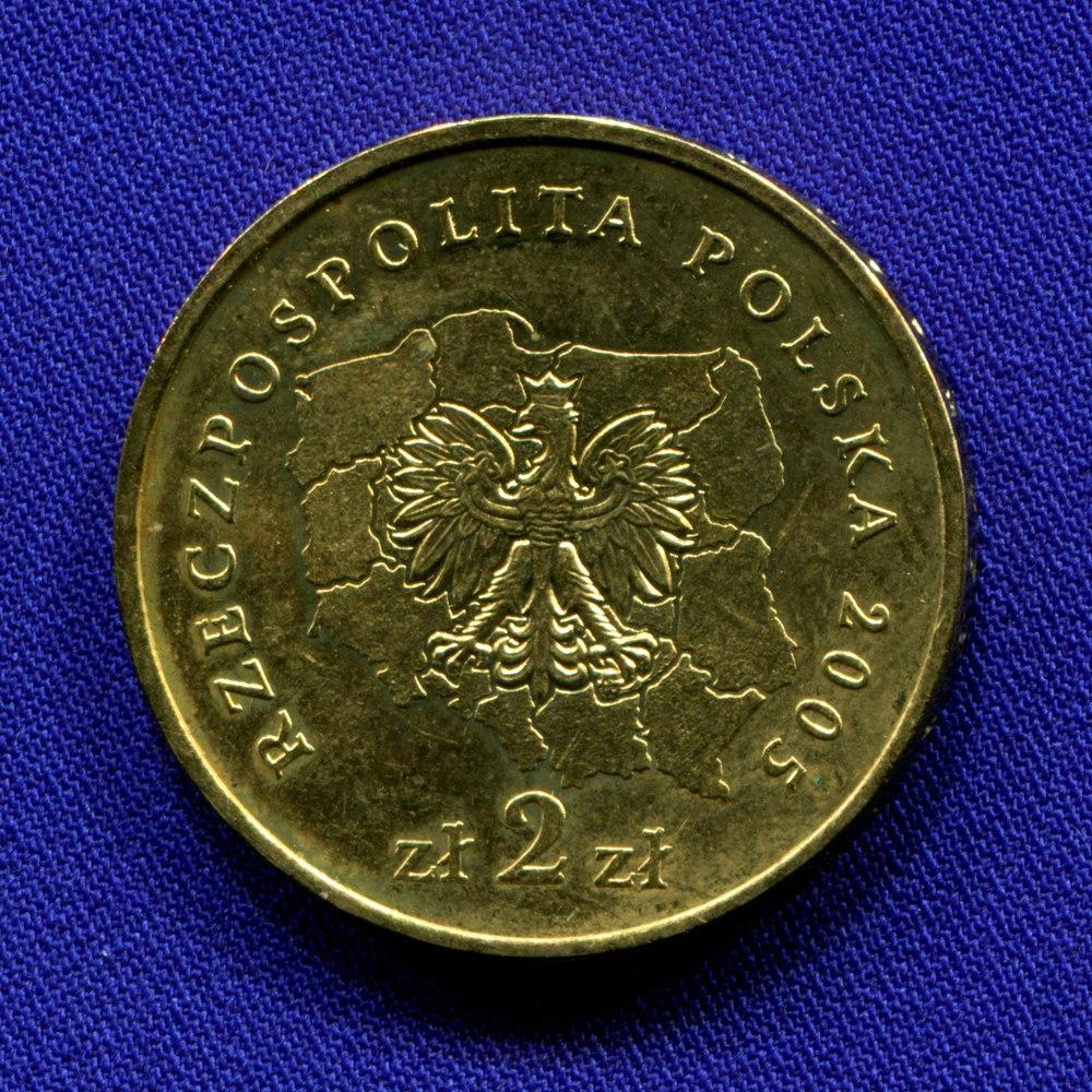 Польша 2 злотых 2005 UNC Свентокшишское воеводство  - 1