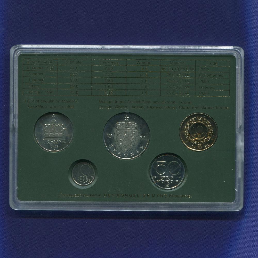 Норвегия набор - 5 монет 1993 UNC - 1