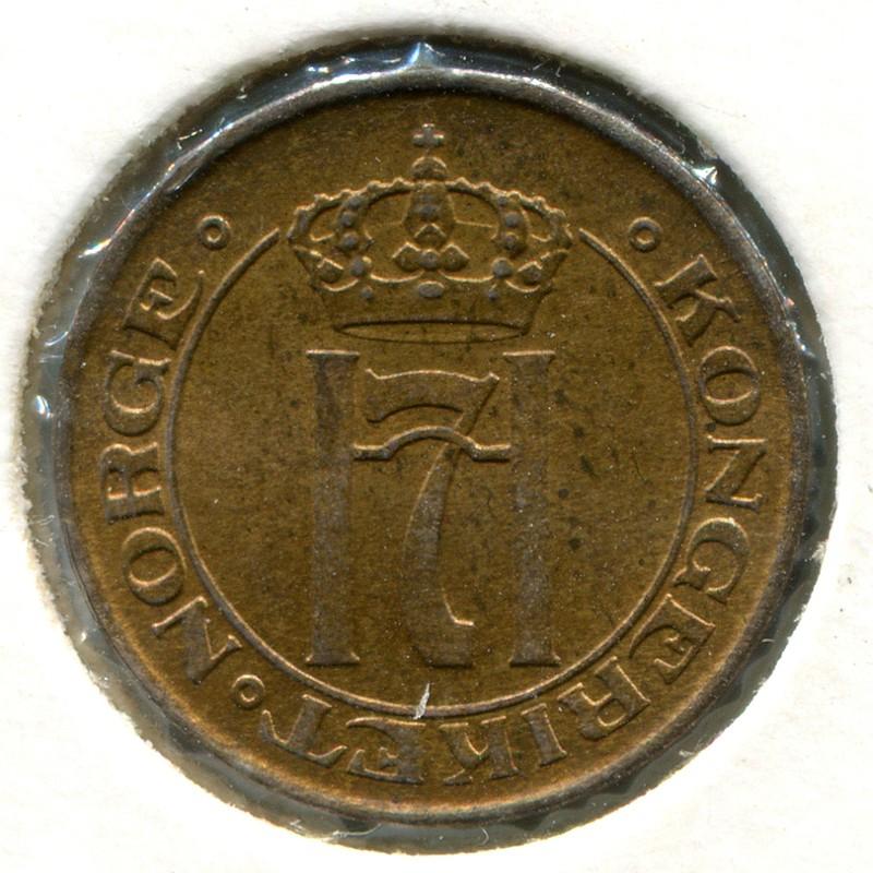 Норвегия 1 эре 1913 #367 UNC - 1