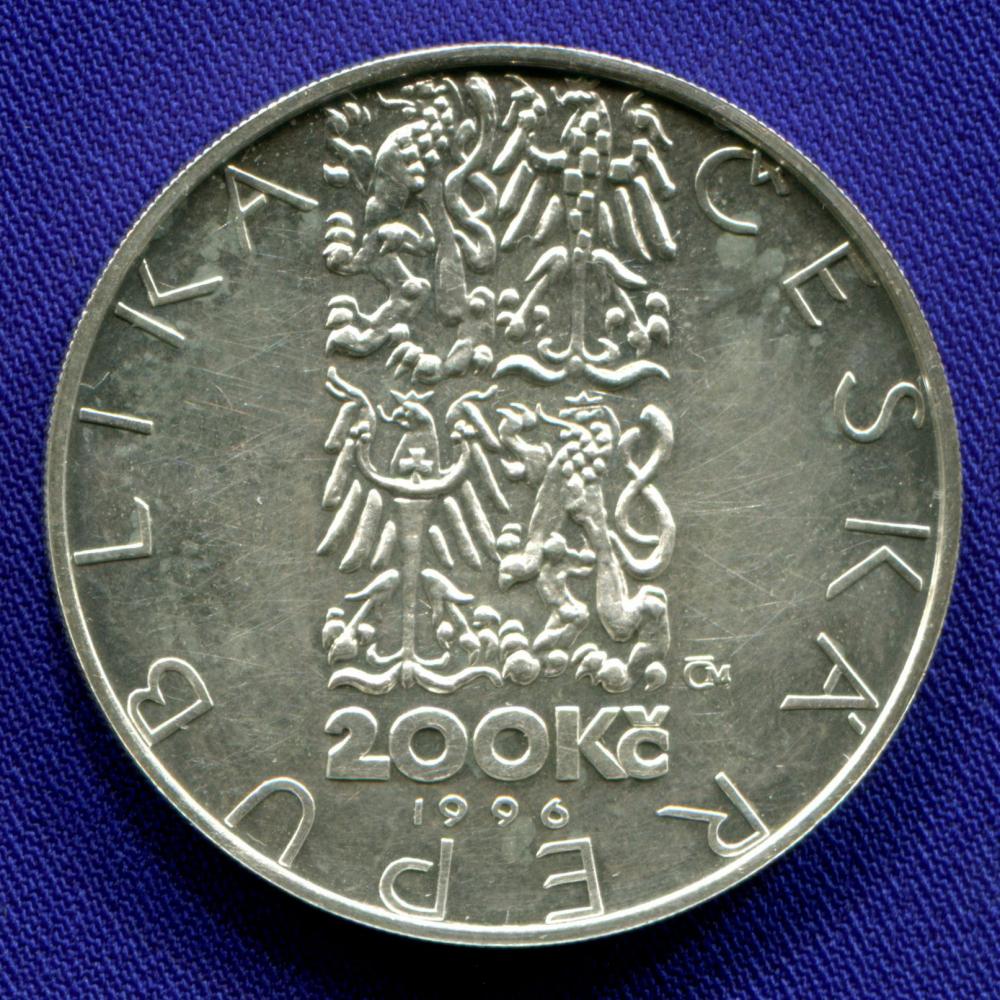 Чехия 200 крон 1996 aUNC Жан-Батист-Гаспар Дебюро  - 1