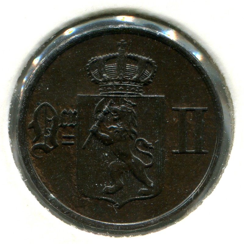Норвегия 1 эре 1902 #352 UNC - 1
