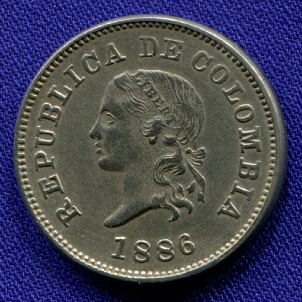 Колумбия 5 сентаво 1886 UNC  - 1