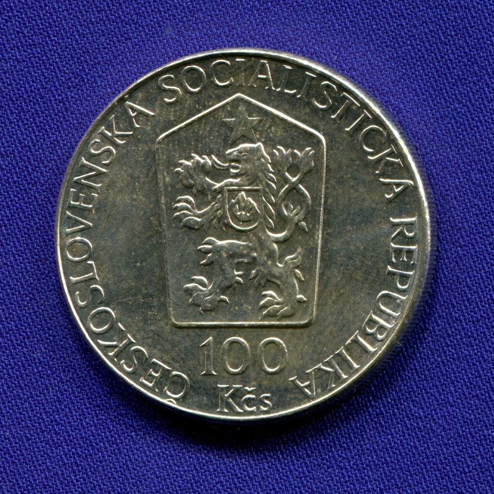 Чехословакия 100 крон 1989 UNC Листопад  - 1