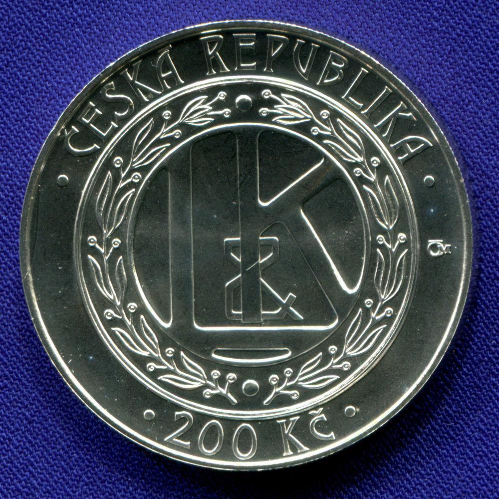 Чехия 200 крон 2005 UNC 100 лет первому чешскому автомобилю  - 1
