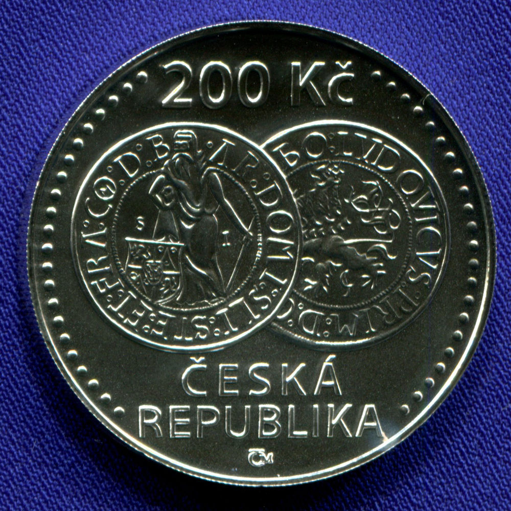 Чехия 200 крон 2020 UNC 500 лет чеканки Яхимовского толара  - 1