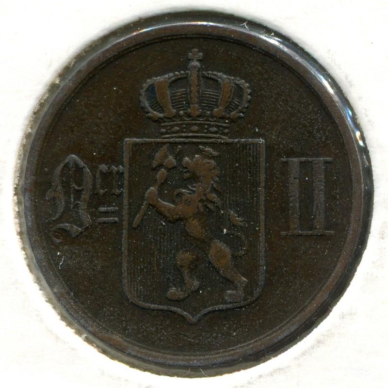 Норвегия 2 эре 1889 #353 - 1