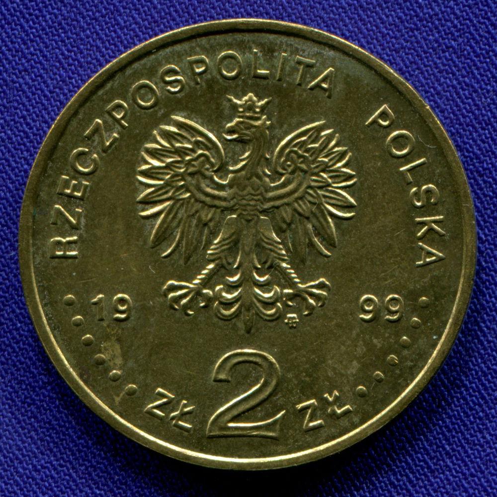 Польша 2 злотых 1999 aUNC Владислав IV Ваза  - 1