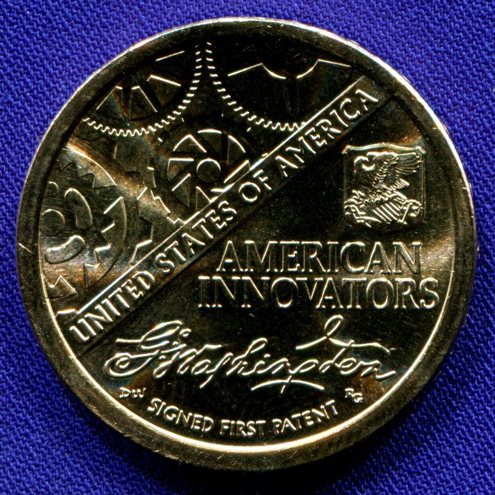 США 1 доллар 2018 UNC Американские инновации - Первый патент  - 1