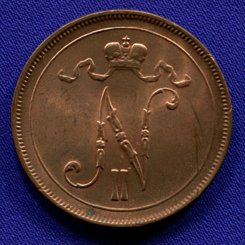 Николай II 10 пенни 1915 UNC - 1