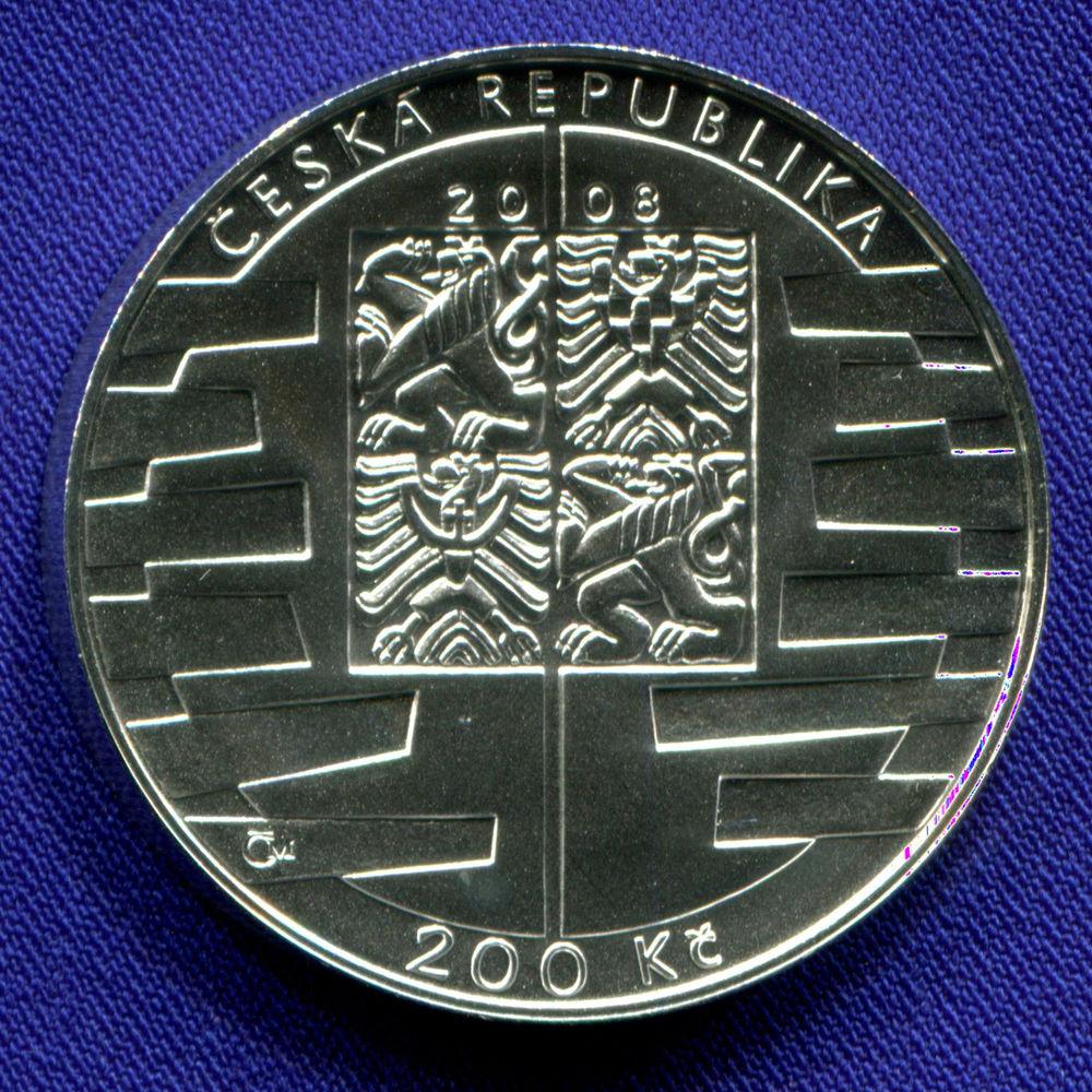 Чехия 200 крон 2008 UNC Шенген  - 1