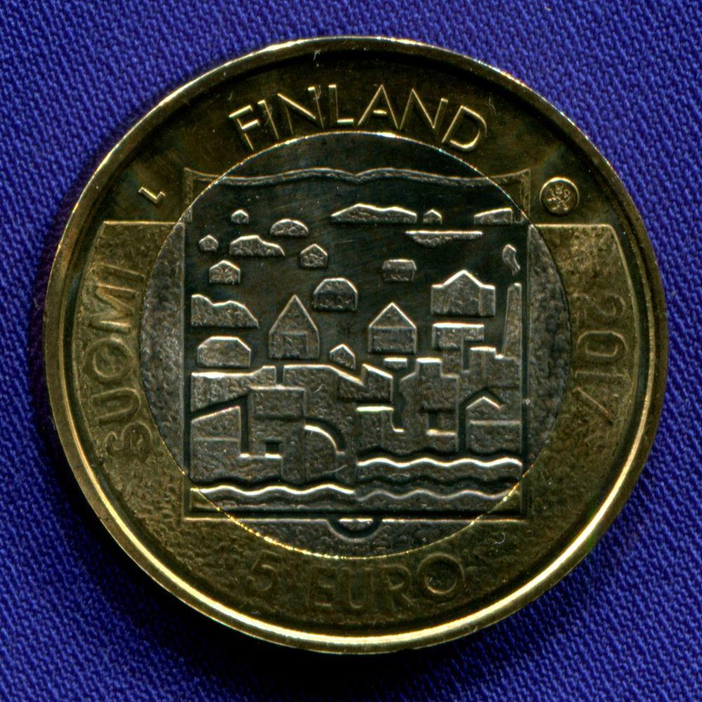 Финляндия 5 евро 2017 UNC Карл Маннергейм  - 1
