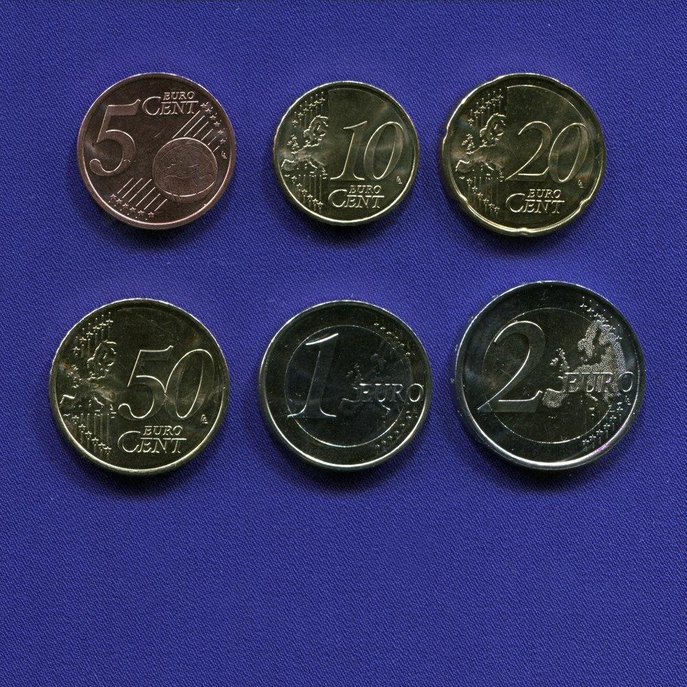 Набор монет Андорры EURO 6 монет 2014 UNC - 1