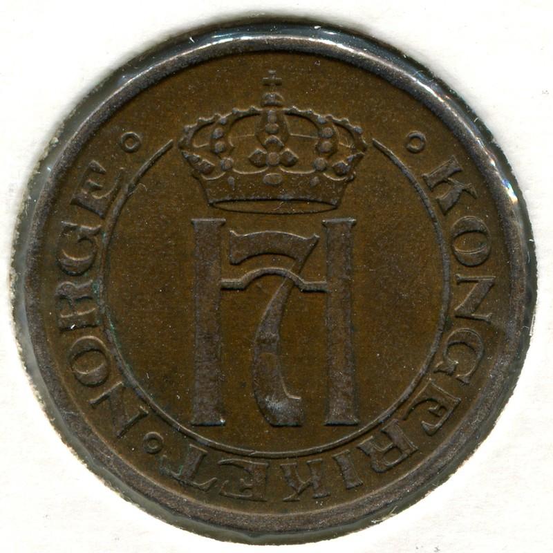 Норвегия 2 эре 1913 #371 XF - 1