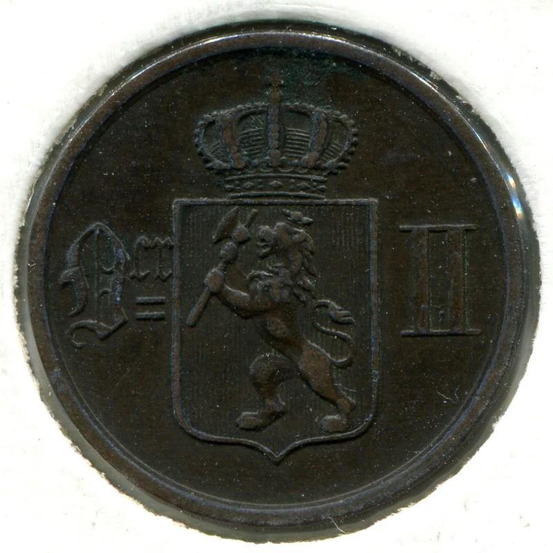 Норвегия 2 эре 1897 #353 VF - 1