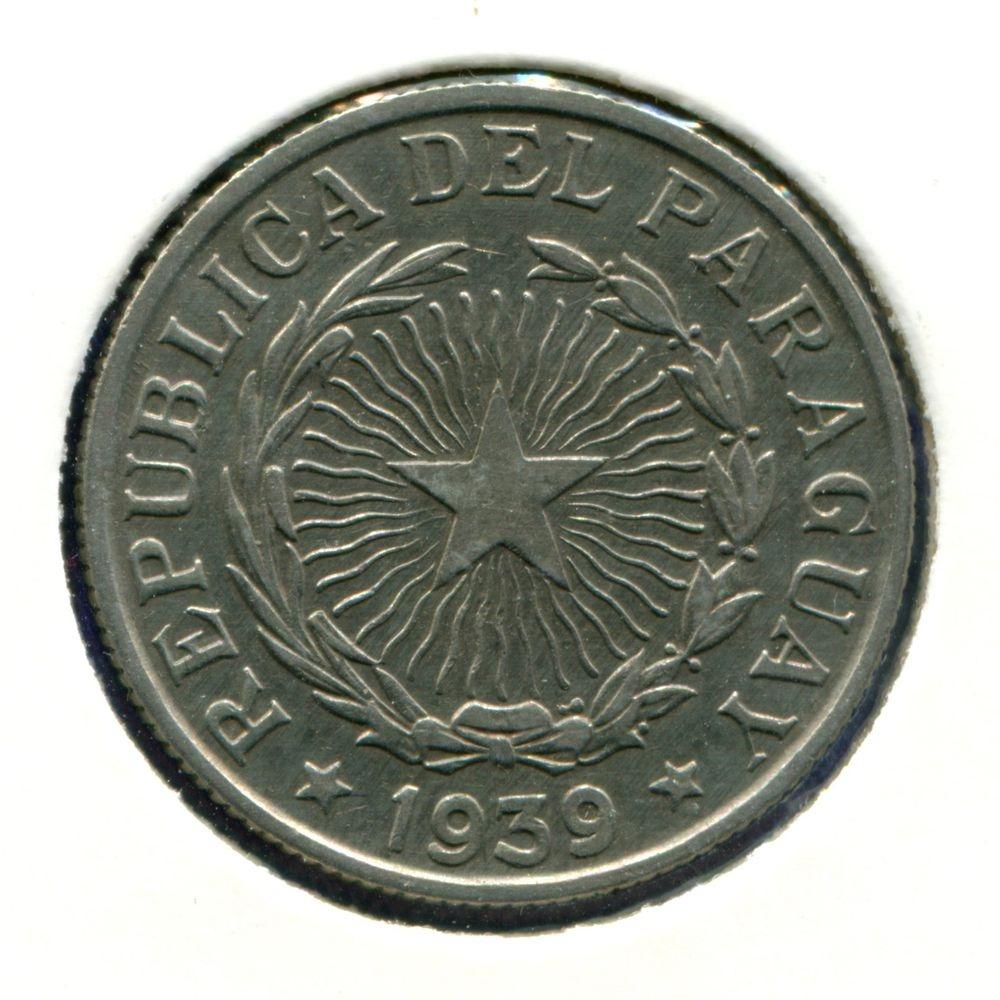 Парагвай 10 песо 1939 XF  - 1