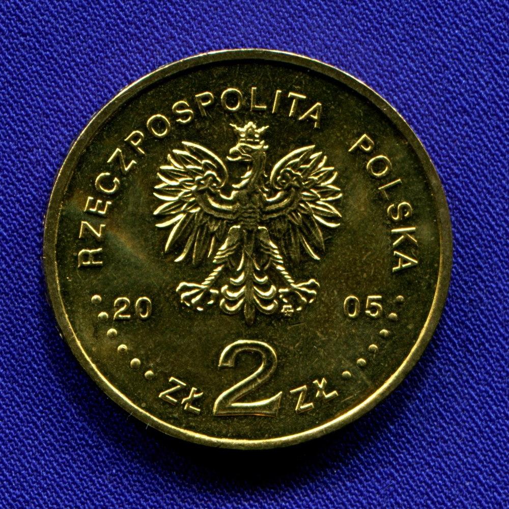 Польша 2 злотых 2005 UNC Станислав Август Понятовский  - 1