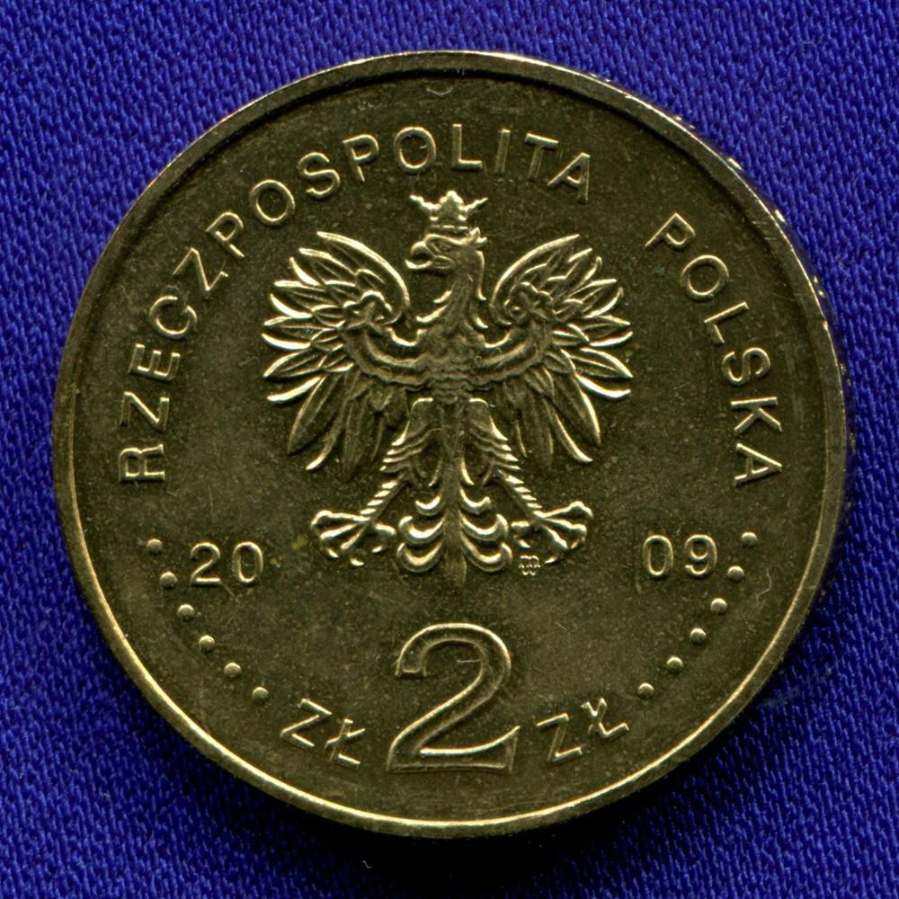 Польша 2 злотых 2009 UNC 25 лет смерти священника Ежи Попелушко - 1