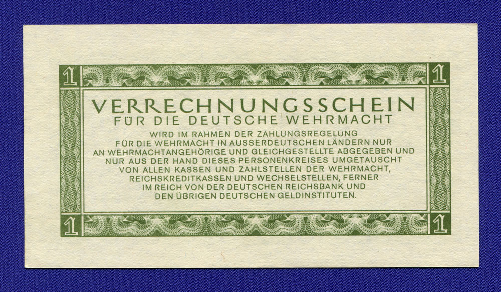Германия/Рейх 1 марка 1944 aUNC Для вермахта - 1