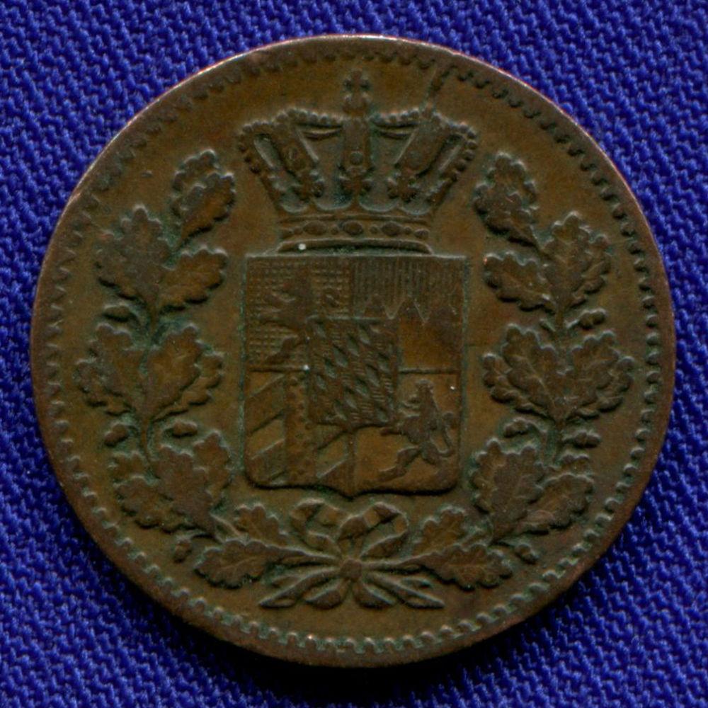Германия/Бавария 1 пфенниг 1858 VF - 1