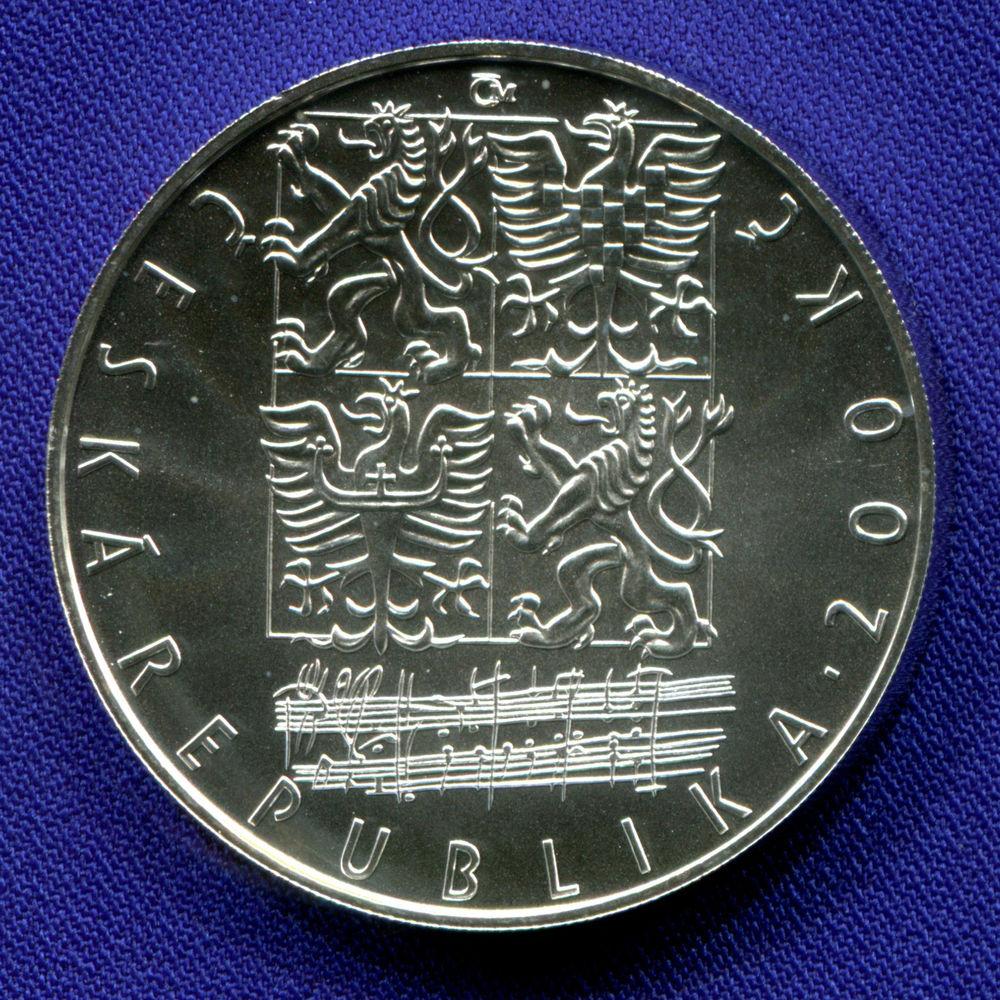 Чехия 200 крон 2004 UNC 150 лет со дня рождения Леоша Яначека  - 1