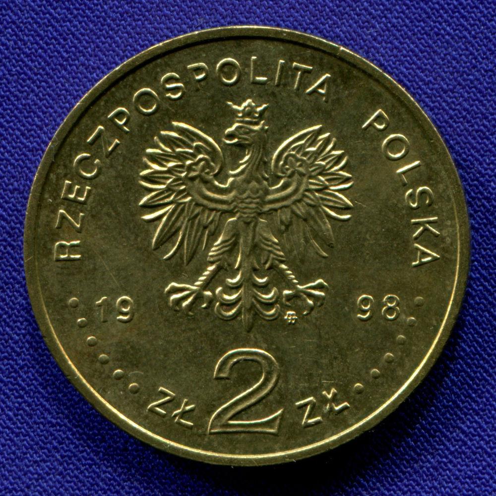 Польша 2 злотых 1998 aUNC Независимость  - 1