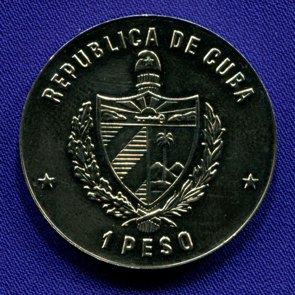 Куба 1 песо 1990 UNC XI Пан-Американские игры. Бейсбол  - 1