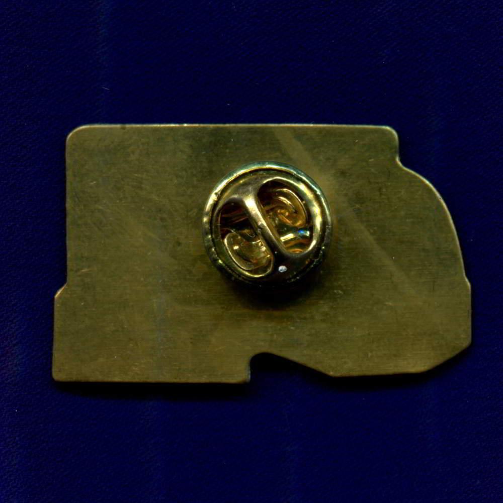 Значок «Р/Д Российские железные дороги официальный партнер олимпиады в Сочи 2014 г.» Легкий металл Цанга-бабочка - 1