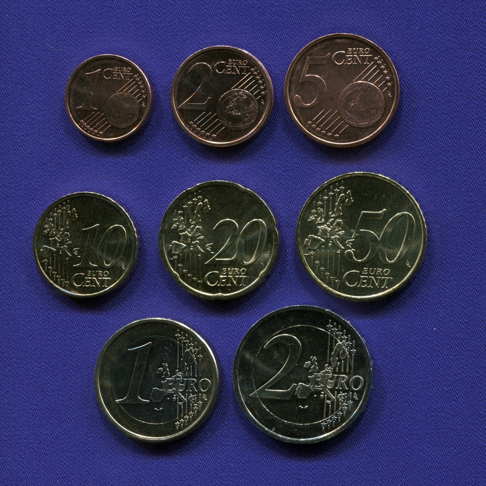 Набор монет Ирландии EURO 8 монет 2006 UNC - 1