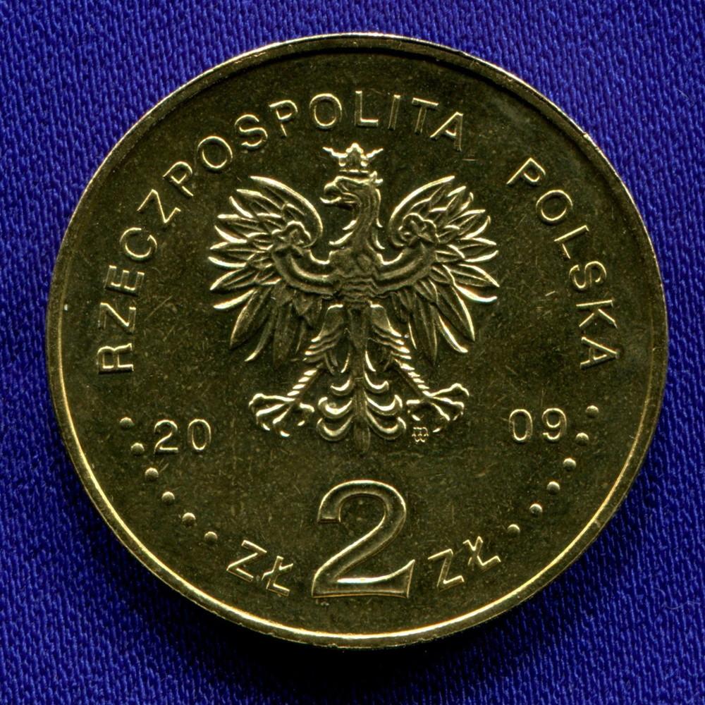 Польша 2 злотых 2009 UNC 100-летие Татровской волонтерской службы - 1