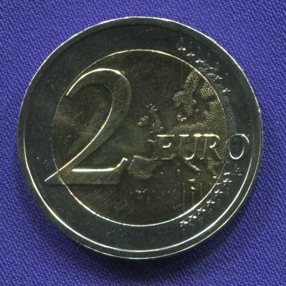 Люксембург 2 евро 2014 UNC 175 лет независимости  - 1