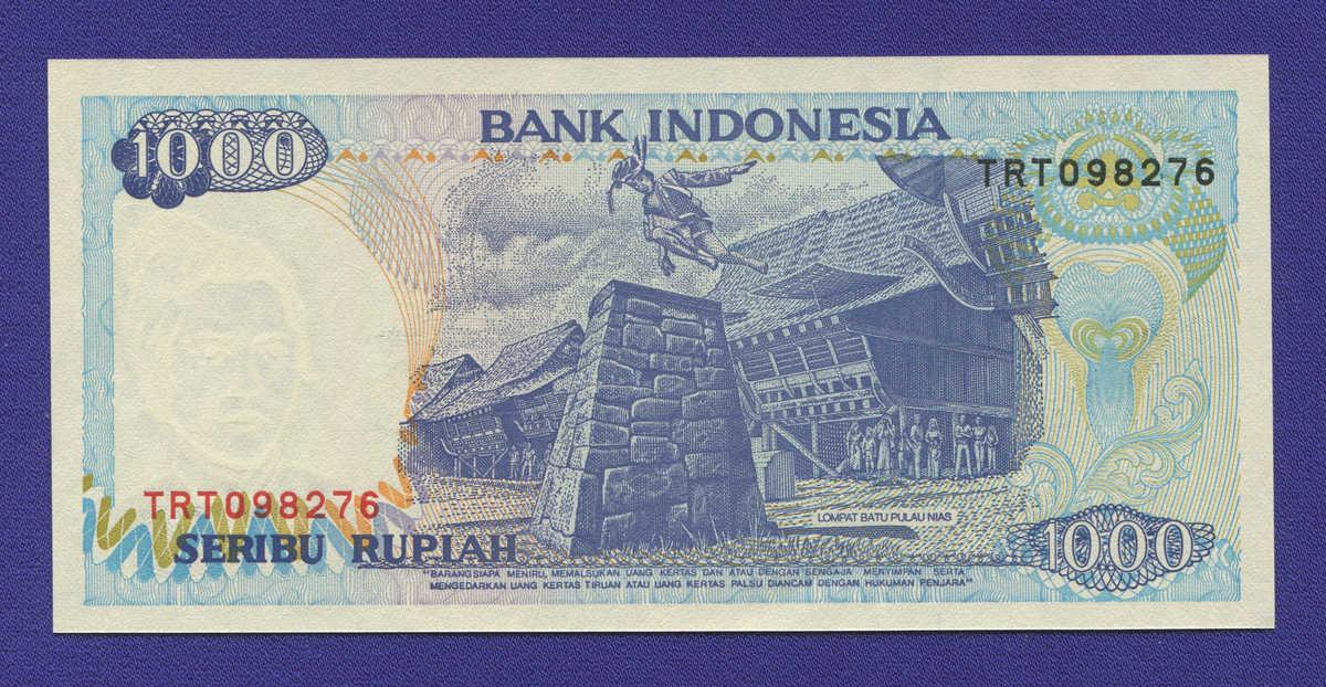 Индонезия 1000 рупий 1992 UNC - 1