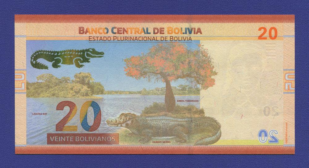 Боливия 20 боливиано 2018 UNC - 1