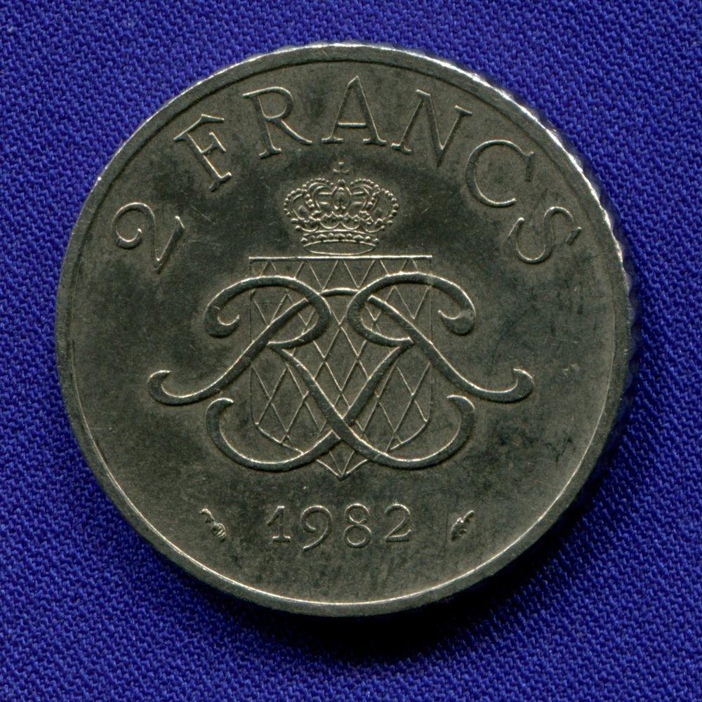 Монако 2 франка 1982 XF  - 1