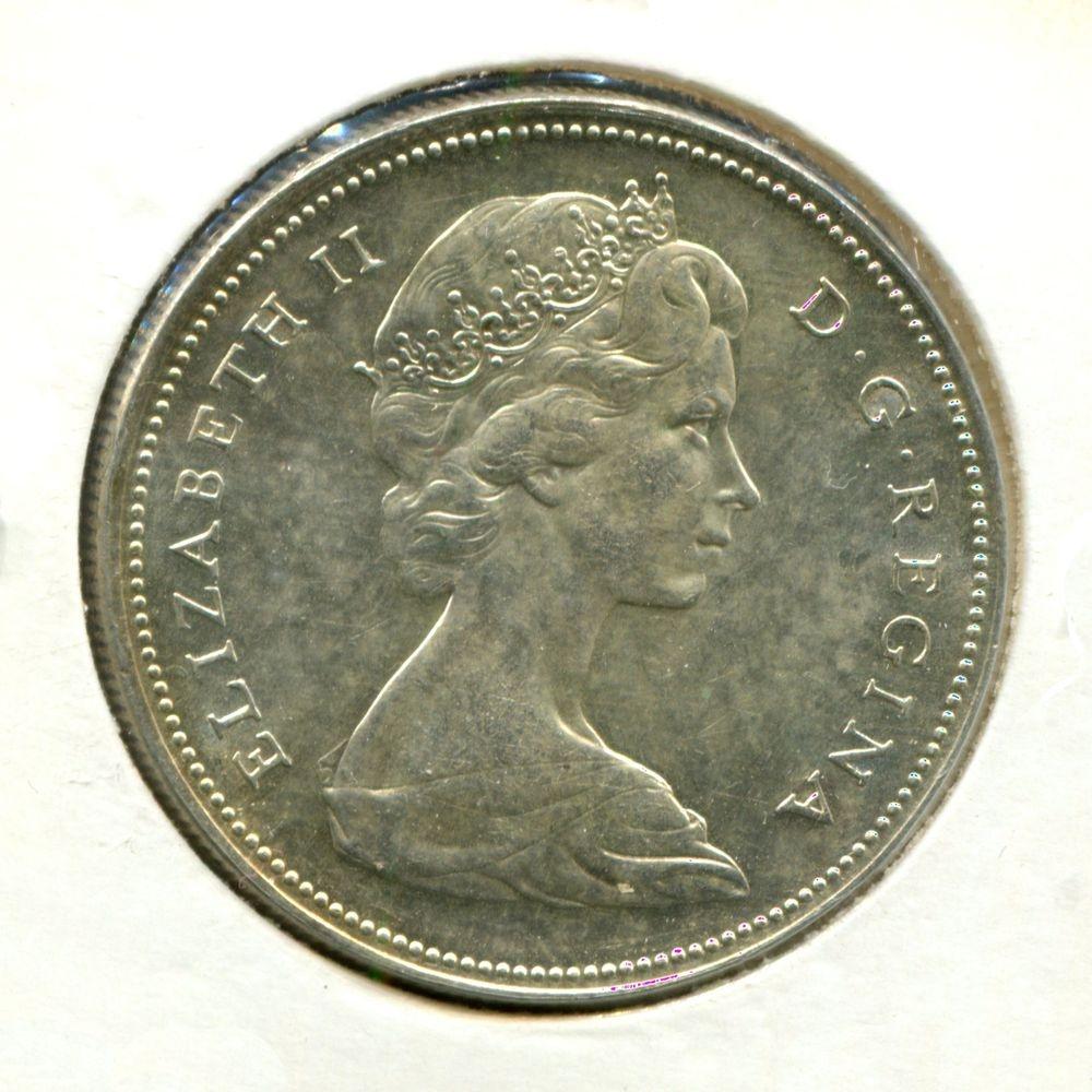 Канада 1 доллар 1966 UNC - 1