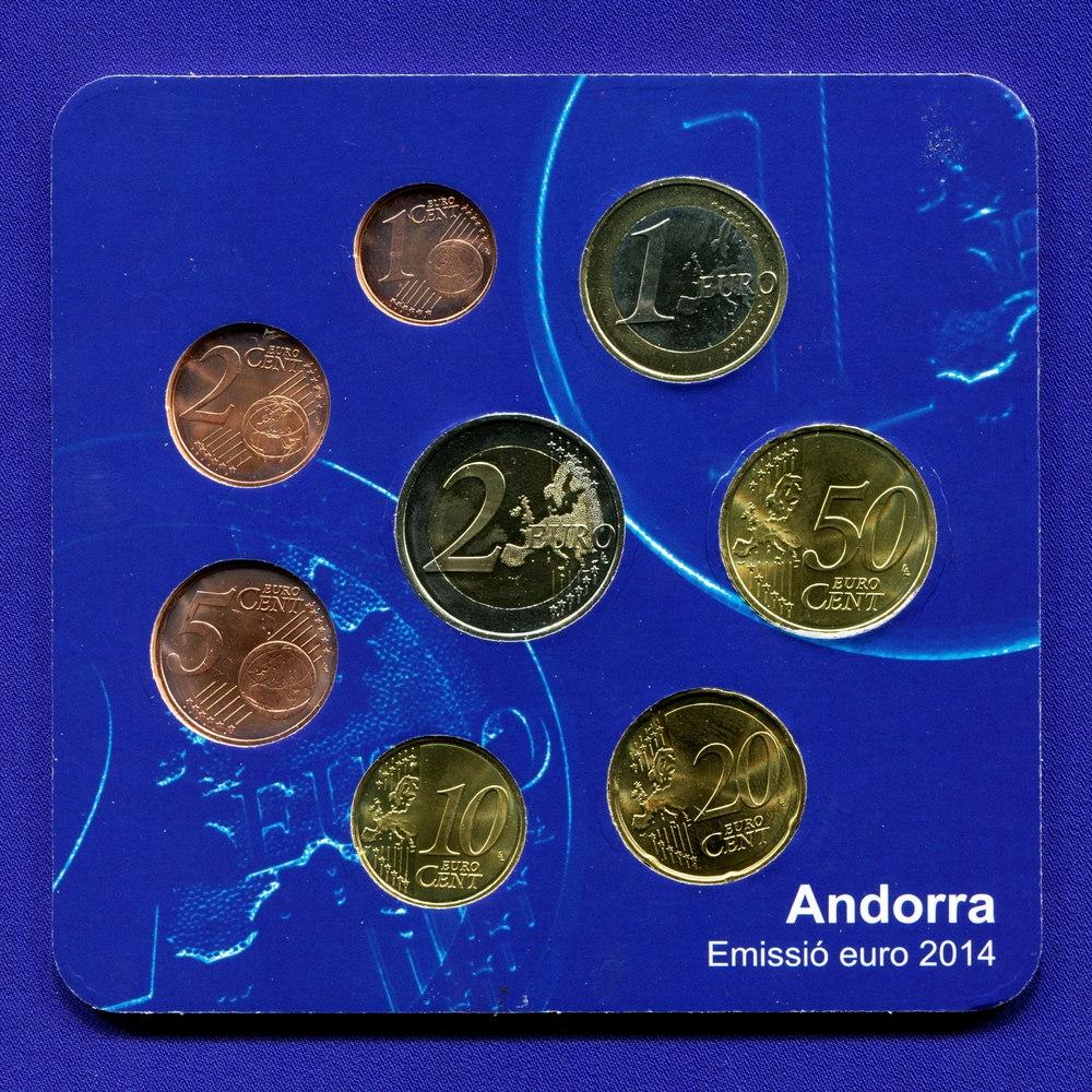 Набор монет Андорры EURO 8 монет 2014 UNC - 1
