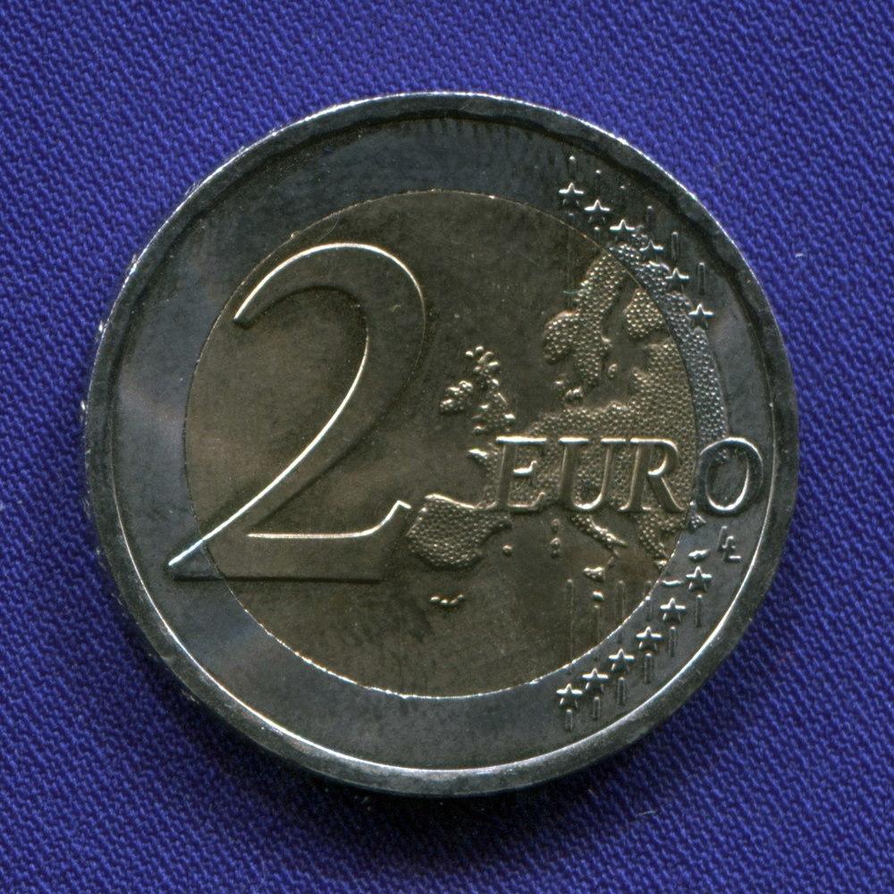 Австрия 2 евро 2012 aUNC 10 лет наличному обращению евро   - 1
