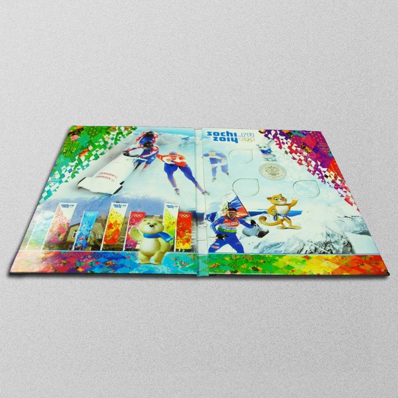 Альбом-планшет для памятных 25-рублёвых монет России 2011-2014 г - 1