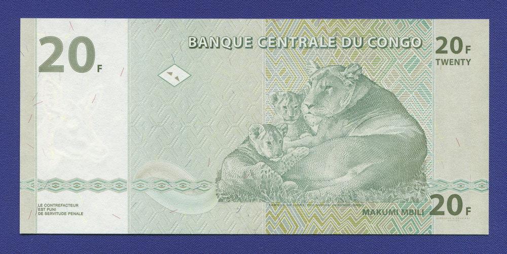 Конго 20 франков 2003 UNC - 1
