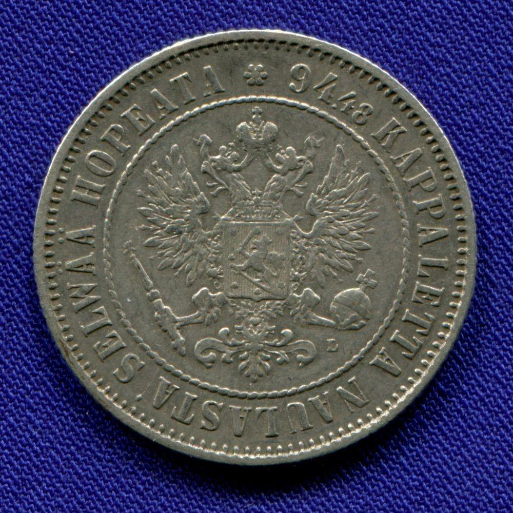 Александр III 1 марка 1890 L XF - 1
