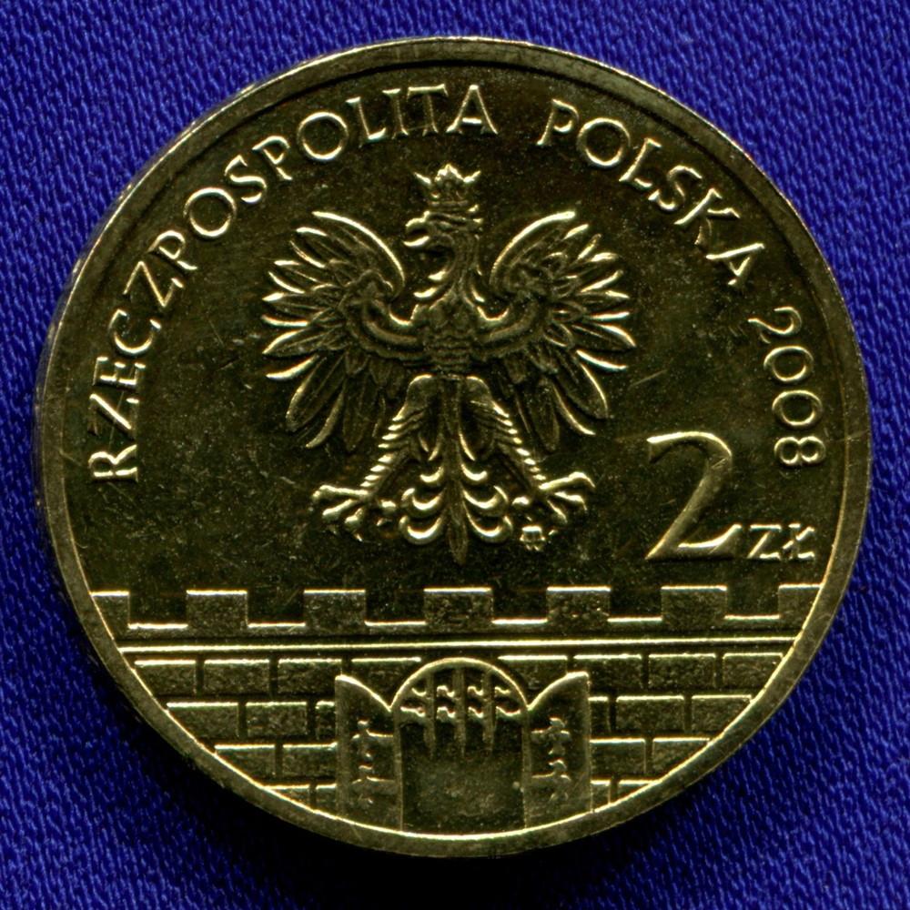 Польша 2 злотых 2008 UNC Конин - 1